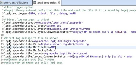 dddd: Application specific logger using log4j in spring mvc and jboss 7.1 | do it | Scoop.it