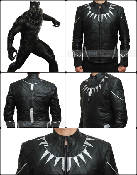 Black Panther Jacket - Captain America Civil War | Mens Celebrity Fashion Jackets, Coat and Suits | Scoop.it