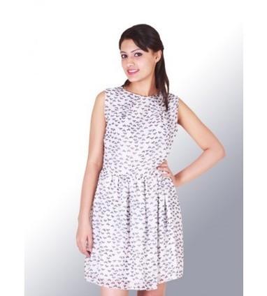 UPTOWN Cat print Georgette Dress in Best Pric | Women Western,Ethnic Wear, Dresses, Tops, Skirts, Kurtis, Leggings with Best Deals- UPTOWNGALERIA | Scoop.it