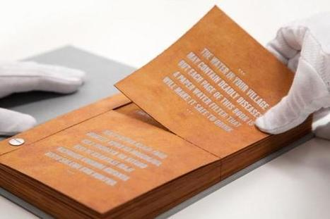 "The Pages of This ""Drinkable Book"" Make Contaminated Water Drinkable 