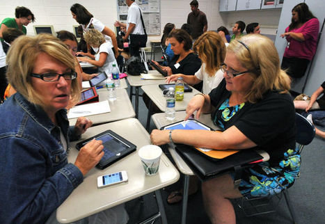 Teachers share, learn new e-tricks at 'Padcamp' | iPad Implementation at PLC | Scoop.it