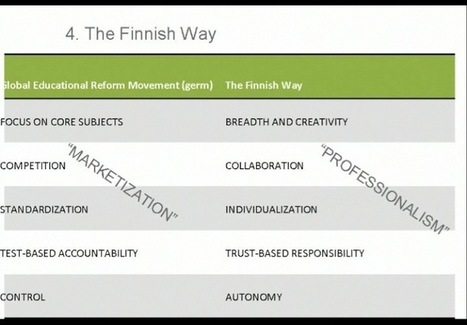 """Pasi Sahlberg Video:  Finland's Top Goal for Education - """"Better Individual Learning Path"""" 