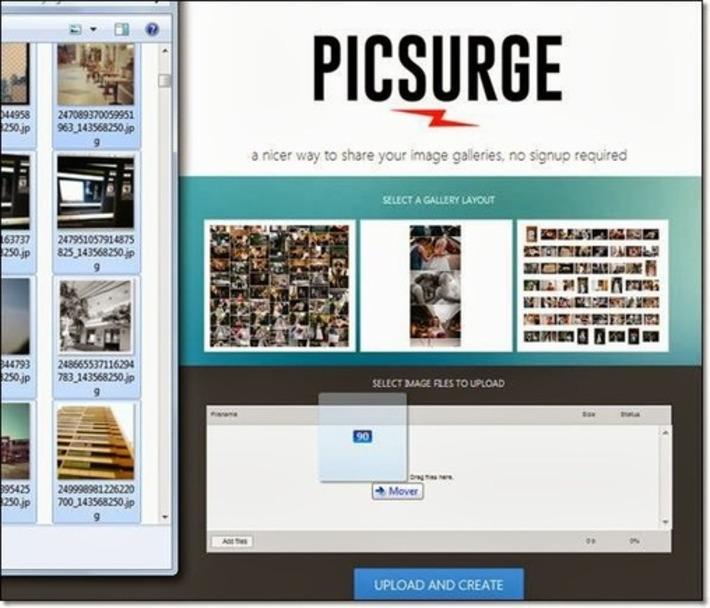 Picsurge: création d'une galerie photo en un glisser déposer | TIC et TICE mais... en français | Scoop.it