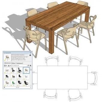 SketchUp – Utilisez les mêmes composants 3D/2D en perspective et en plan | SketchUp | Scoop.it