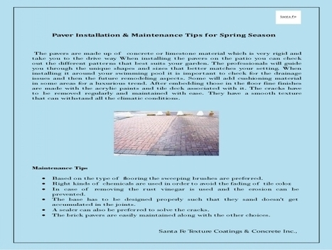 Paver Installation & Maintenance Tips | Driveway Paver Color Coating & Maintenance | Scoop.it