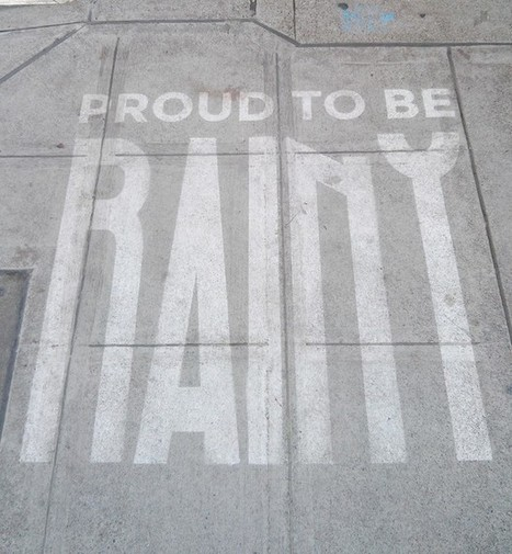 This Seattle Street Art Only Appears When It's Raining | Sustainable Futures | Scoop.it