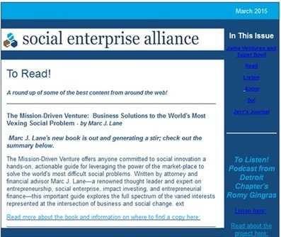 The Mission-Driven Venture: - Marc J. Lane Wealth Group | Peer2Politics | Scoop.it