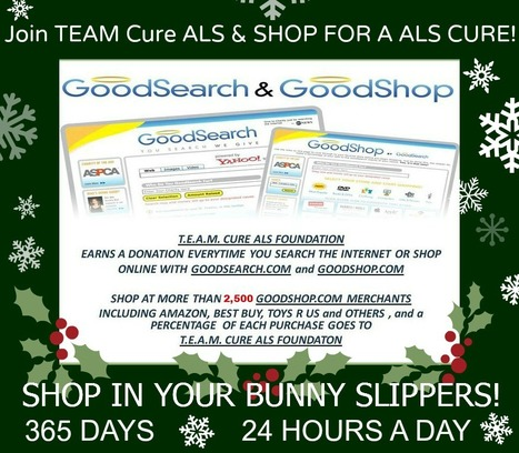 Shop for a ALS-MND Cure Online | Shop 365 Days- 24/7 In Your Bunny Slippers! Easy as 1-2-3! | #ALS AWARENESS #LouGehrigsDisease #PARKINSONS | Scoop.it