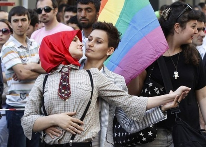 Participants dance during a gay pride parade in central Istanbul June 26, 2011)   Let's Get Sex Positive   Scoop.it