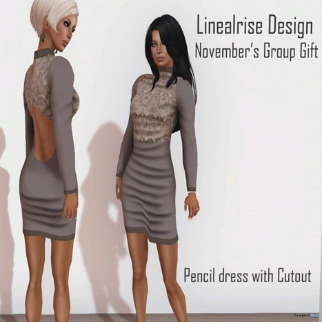 Pencil Dress With Cutout November 2013 Group Gift by Linealrise Design | Teleport Hub - Second Life Freebies | Second Life Freebies | Scoop.it