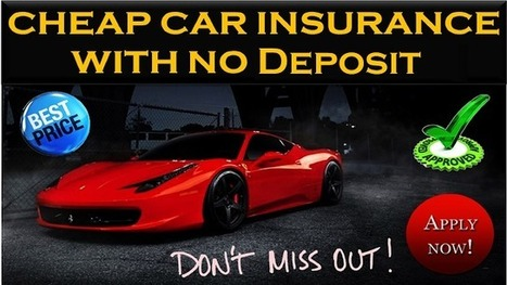 Non Owner Car Insurance With No Deposit, Get Monthly Rates Online | One Day Car Insurance Quote | Scoop.it