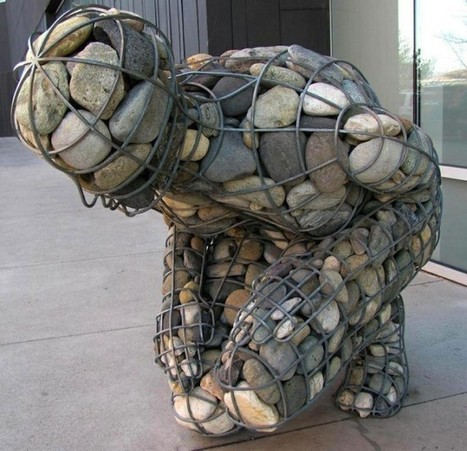 4,000 Pounds of Rocks Fill a Human-Shaped Steel Frame | Arquitectura | Scoop.it