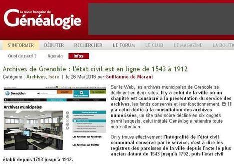 AC Grenoble en ligne | CGMA Généalogie | Scoop.it