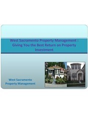 West Sacramento Property Management : Giving You the Best Return on Property Investment   S & S Property Management   Scoop.it