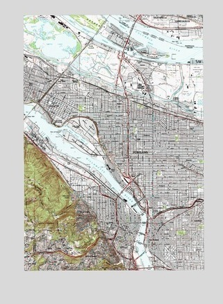 Portland, OR Topographic Map - TopoQuest | PDX water maps and messes | Scoop.it