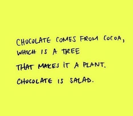 Did you know #chocolate could be classified as a salad? via @Sixces | Check My Vibe | Scoop.it