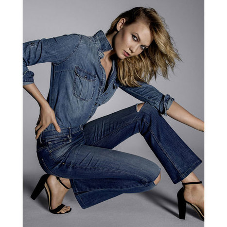 Fitted Faded Denim Shirt from EXPRESS | Jeans Fashion | Scoop.it