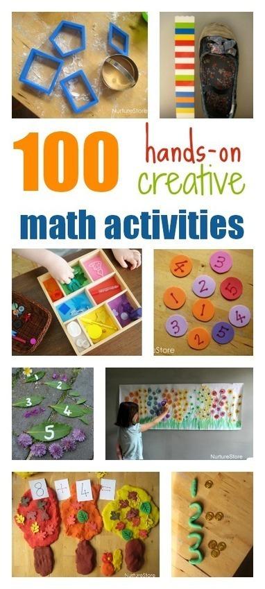 100 hands-on, creative math activities for kids - NurtureStore | Panda Pride- Pre-K at Lexington Park | Scoop.it
