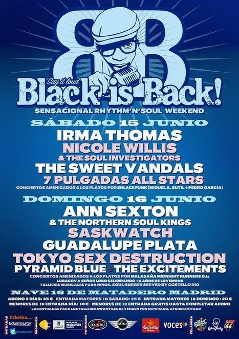 Frantic Souls: Black is Back 2013: La fiesta del Soul vuelve al Matadero de Madrid   Black Is Back   Scoop.it