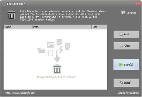 Supprimer les fichiers définitivement grâce à Free File Shredder | Le Top des Applications Web et Logiciels Gratuits | Scoop.it