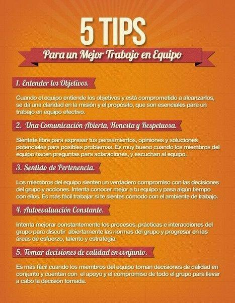 5 consejos para un mejor trabajo en equipo #infografia #infographic | CF ALOJ TRABAJO EN EQUIPO | Scoop.it