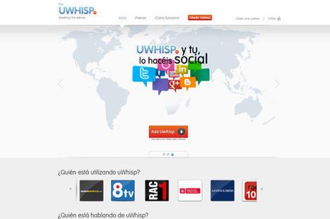 uWhisp: comparte mensajes de voz a través de Facebook y Twitter | adictosalared.com | Cosas que interesan...a cualquier edad. | Scoop.it