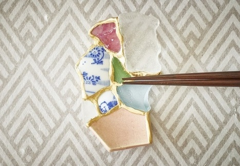 Ceramic Shards Found on Beach Are Turned into Chopstick Rests Using Kintsugi | Le Panda De Cina ✪ | Scoop.it
