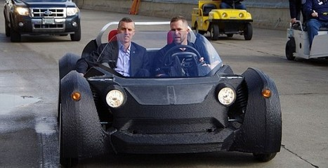 3D printed car takes 2-days to build, 40mph top speed - SlashGear | Machinimania | Scoop.it
