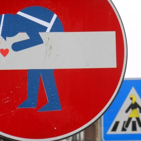 15 Provoking Works of Street Sign Art - Mashable | Emotional triggers | Scoop.it
