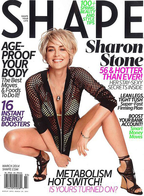 Sharon Stone on the cover of Shape Magazine | Filmi Gossip | Scoop.it