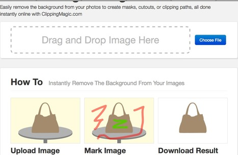 Easily Remove Image Backgrounds Online - ClippingMagic | Web 2.0 and Social Media | Scoop.it