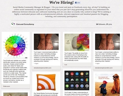 How To Use Pinterest for Social Recruiting [Cool Example] } TheUnderCoverRecruiter.com | Social Job Search | Scoop.it
