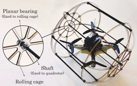 HyTAQ hybrid quadrotor robot travels by air and land, leaves us no place to hide | Rise of the Drones | Scoop.it