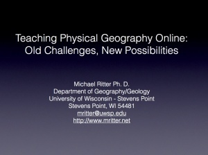 Teaching Physical Geography Online: Old Challenges, NewPossibilities | The Digital Professor | Scoop.it