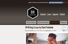 36 Writing Essays by Chuck Palahniuk | LitReactor | Online Creative Social Mobile Writing, Storytelling | Scoop.it