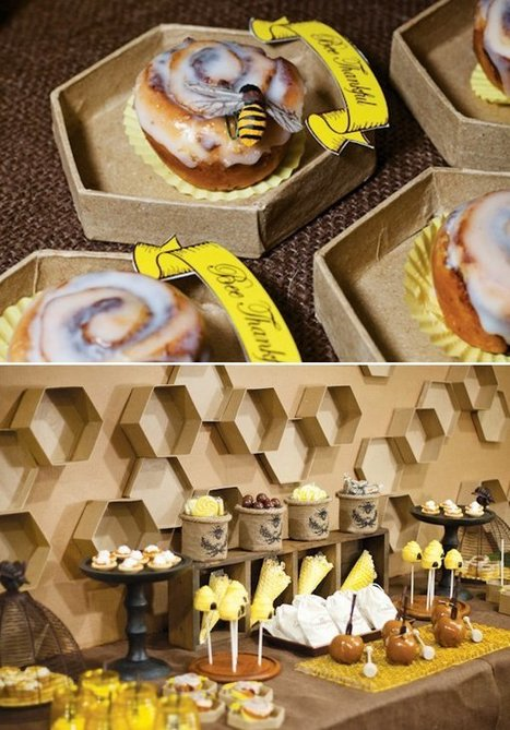 """""""Bee Thankful"""" Themed Thanksgiving // Hostess with the Mostess®! #bees #honey #heartwood 