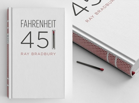 Fahrenheit 451 design includes match and striking paper | Biblio | Scoop.it