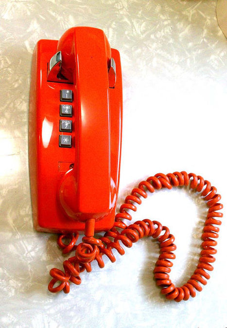 Retro Groovy Atomic Orange Push Button Wall Telephone by Stromberg Carlson for Ma Bell | Kitsch | Scoop.it