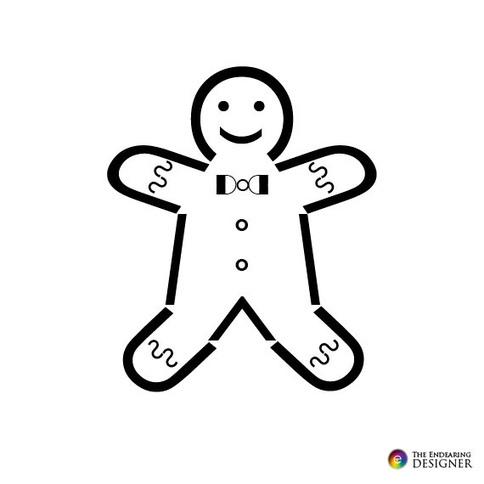 ASCII Art - Gingerbread Man Text Art