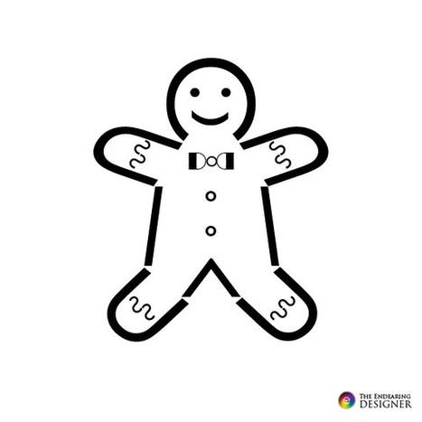 Gingerbread Man Text Art | ASCII Art | Scoop.it