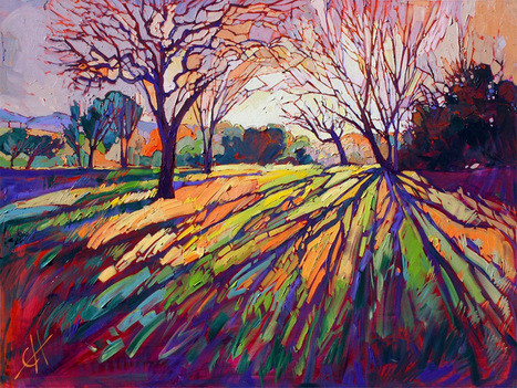 Oil Landscapes Transformed into Mosaics of Color by Erin Hanson... | Art for art's sake... | Scoop.it