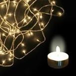 Buy Big Bang Diwali Offer White Rice Lights + 9 Tea lIghts | LED Lighting Products | LED Lights | Scoop.it