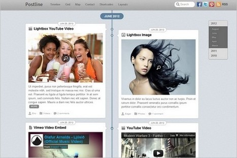Postline is a Facebook Timeline Inspired WordPress Theme by Themify | WP Daily Themes | social media research paper | Scoop.it