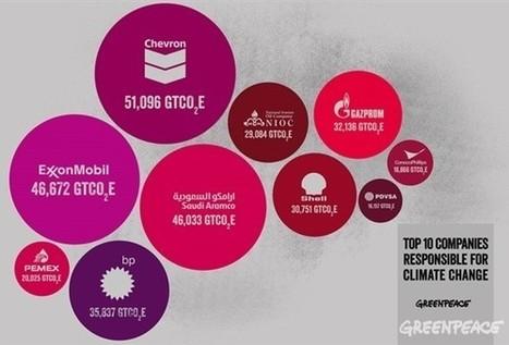 Climat : ils sont 90 responsables de 2/3 des émissions de gaz à effet de serre   Questions climatiques   Scoop.it