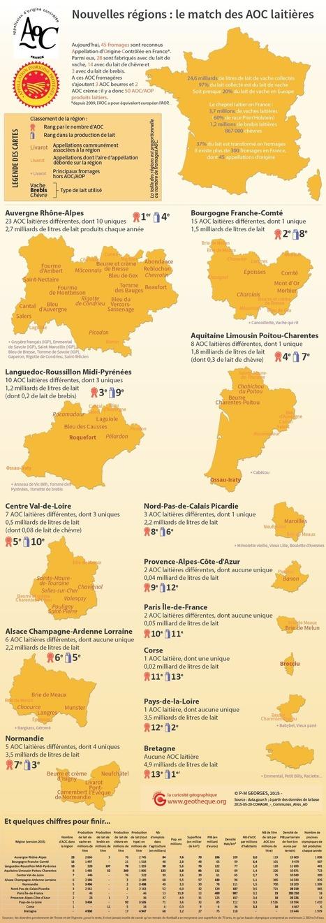 AOC/AOP laitières : le match des nouvelles régions | Géographie : les dernières nouvelles de la toile. | Scoop.it