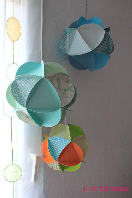 Ju2Framboise : TuTo : Un mobile de globes de papier DIY | Créations, Idées, DIY | Scoop.it
