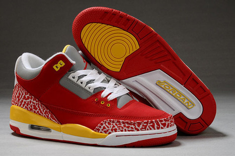 Jordan 3 Retro White Fire Red Yellow Cement Nike Mens Shoes | new and popular list | Scoop.it