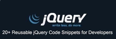 20+ Reusable jQuery Code Snippets for Developers | Web Revisions | Js | Scoop.it