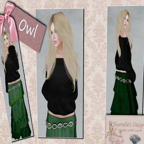 Owl Outfit Hippie Skirt and Shoulder Sweater Group Gift by Sharodie's Design | Teleport Hub - Second Life Freebies | Second Life Freebies | Scoop.it