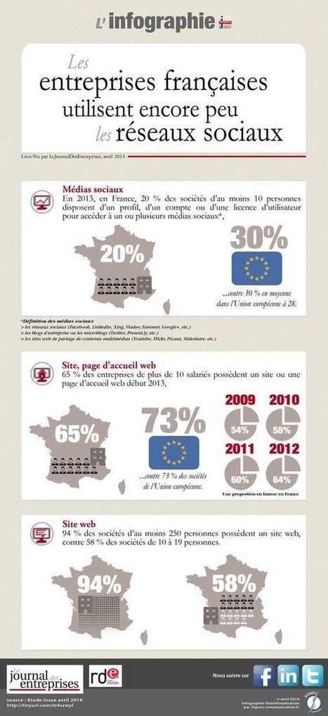 Le Journal des entreprises - National - L'éco en chiffres. Les entreprises françaises utilisent encore peu les réseaux sociaux | médias sociaux | Scoop.it